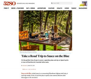 Sauce on the Blue featured in 5280 Magazine