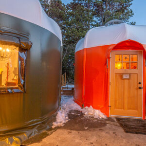 Sauce on the Blue Orange Yurt exterior